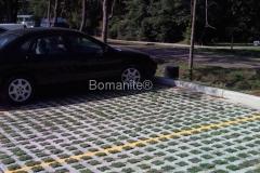 Bomanite Grasscrete Concrete at the Army National Guard Parking Lot
