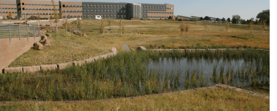 Bomanite Pervious Concrete Systems, NREL Central Arroyo Detention Pond - Grasscrete, NREL Environmental Labs by Colorado Hardscapes